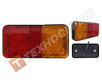 Ліхтар задній квадратний 3 секції 10LED причепа, лафета правий, фото 1