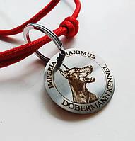 Адресник з гравіюванням з фото кулон для собак жетон American Style