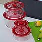 Набір скляних харчових контейнерів Herisson EZ-2502 4 в 1, фото 2