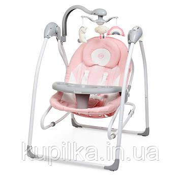 Детский укачивающий центр с мелодиями (напольные качели для новорожденных) ME 1028 SENSA Flowers Pink, розовый