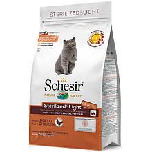 Сухой корм для кастрированных и стерилизованных кошек Шезир Schesir Cat Sterilized & Light 400 г