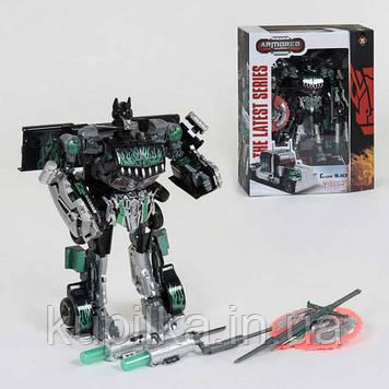 Робот-машинка для детей 8824 трансформер с оружием со световыми и звуковыми эффектами, высота - 30 см