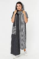 Оригинальное платье-миди большого размера. Размеры: 48,50,52,54