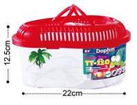 Террариум пластиковый с полкой ТТ с пальмой овальный 3,8л 22х12,5см
