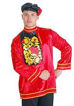 Национальный костюм мужской Хохлома вышивка \ размер 48; 50; 52; 54 \ BL - ВМ216
