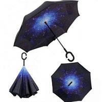 Зонт обратного сложения Up-Brella звездное небо