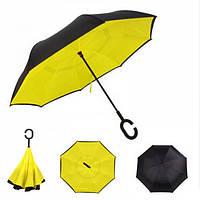 Зонт обратного сложения Up-Brella желтый, фото 1