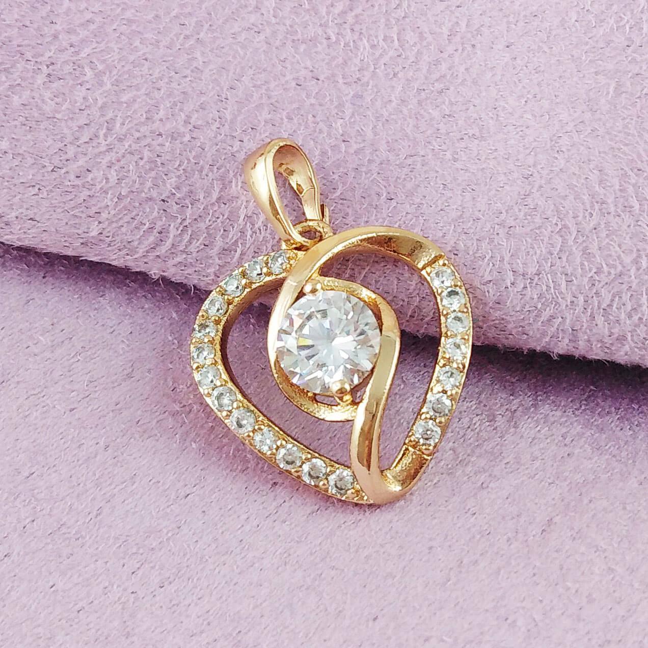 Кулон Xuping Jewelry Сердечко медицинское золото позолота 18К А/В 5-0062
