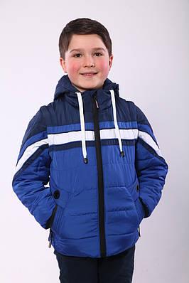 Осіння куртка на хлопчика 32-36 електрик