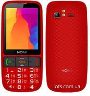 Мобильный Телефон Nomi i281 Red (2-SIM) Бабушкофон
