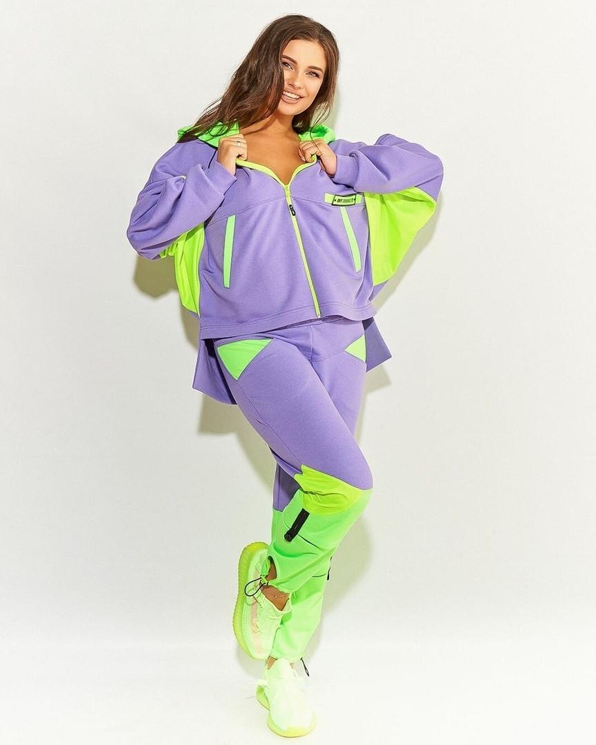 Женский спортивный костюм комбинированный. Размеры:48/50,52/54,56.+Цвета