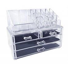 Органайзер для зберігання косметичних засобів Cosmetic box UTM з 4 шухлядками Прозорий
