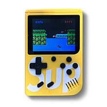 Портативная игровая приставка на 400 игр dendy SEGA 8bit SUP Game Box Желтая
