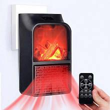 Портативний обігрівач Flame Heater New 900W з імітацією каміна, LCD-дисплеєм і пультом