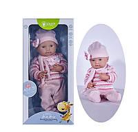 Детский игрушечный реалистичный пупс Pure DF 16-010 А/В c дизайнерской одеждой (2 вида)
