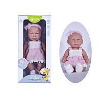 Детский игрушечный реалистичный пупс Pure DF 12-007 А/В c дизайнерской одеждой
