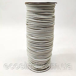 2 мм Резинка круглая (шляпная) белая 100 ярд. (СИНДТЕКС-0278)