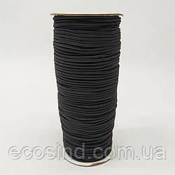 2 мм Резинка круглая (шляпная) черная 100 ярд. (СИНДТЕКС-0279)