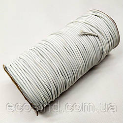 3 мм Резинка круглая (шляпная) белая 100 ярд. (СИНДТЕКС-0282)