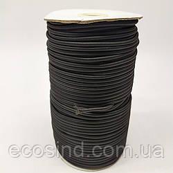 3 мм Резинка круглая (шляпная) черная 100 ярд. (СИНДТЕКС-0283)