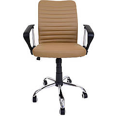 Офисный стул Vecotti вращающийся экокожа Бежевый
