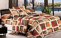 Евро комплект двухспального постельного белья в классическом дизайне
