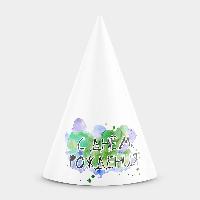 Колпачок на праздник С днем рождения Краски Зеленый