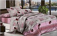 Евро комплект двухспального постельного белья в ярком дизайне