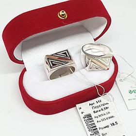 Мужской перстень 925 пробы с вставкой золота 375 пробы