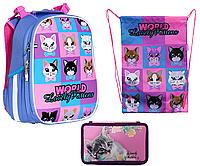 Комплект Class Рюкзак, пенал и сумка Lovely Kitties, фото 1