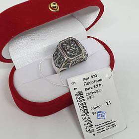 Серебряный массивный перстень Лео 925 пробы