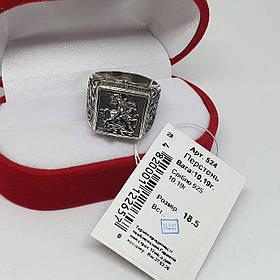 Серебряный массивный перстень 925 пробы Георгий Победоносец