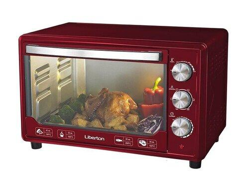 Электродуховка LIBERTON LEO-481 Dark Red