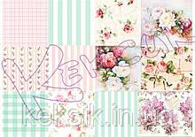 Вафельная картинка для Cupcake Коллаж Цветы21