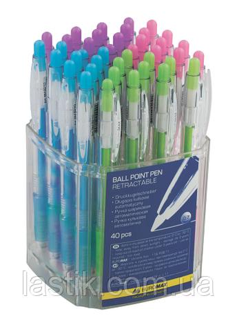 Ручка шариковая автоматическая CRYSTAL, PASTEL, 0,7 мм, пласт.корпус, рез.грип, синие чернила, фото 2