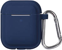 Кейс TOTO Plain Cover With Stripe Style Case AirPods Midnight Blue 101757, КОД: 1309833