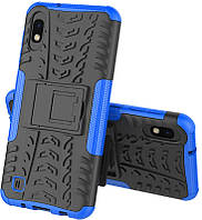 Чехол-накладка TOTO Dazzle Kickstand 2 in 1 Case Samsung Galaxy M10 Blue 84283, КОД: 1293474