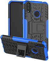Чехол-накладка TOTO Dazzle Kickstand 2 in 1 Case Huawei Y7 Pro 2019 Enjoy 9 Blue 84274, КОД: 1293578