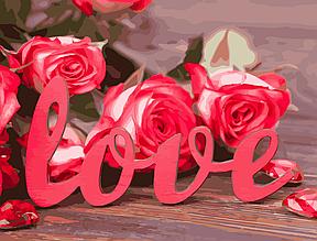 Картина за номерами Троянди кохання