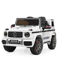 Детский электромобиль Машина Джип Merсedes AMG M4179 для мальчика девочки 3 4 5 6 7 8 лет на 2 моторах белый