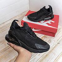 N1ke Air Max 270 черные кроссовки женские найк аир макс кросовки