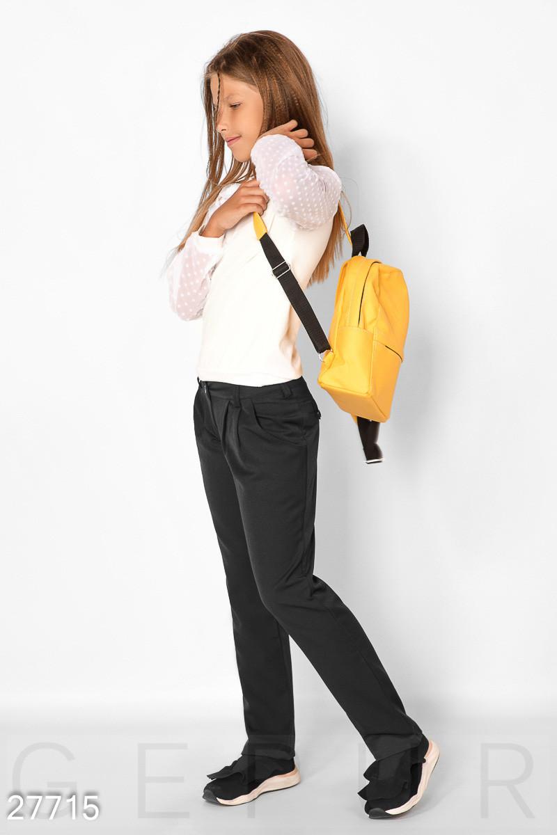 Зауженные школьные брюки на девочку