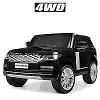 Детский электромобиль Машина Джип Land Rover M4175EBLR-3 черный для мальчика девочки  3 4 5 6 7 лет Ленд Ровер