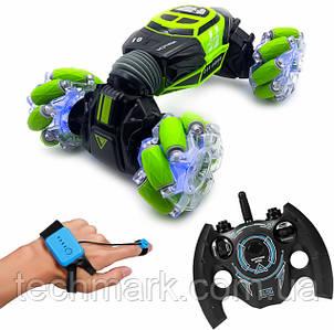 Машинка-перевертыш Skidding Hyper с управлением жестами  от руки Зеленый