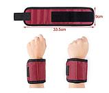 Магнитный браслет для инструментов со встроенными суперсильными магнитами Magnetic Wristband, фото 6