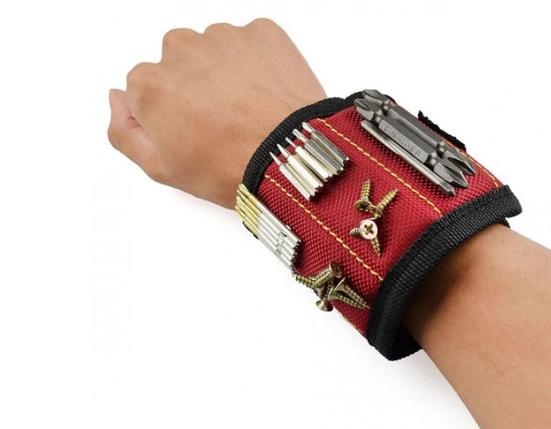 Магнитный браслет для инструментов со встроенными суперсильными магнитами Magnetic Wristband, фото 2