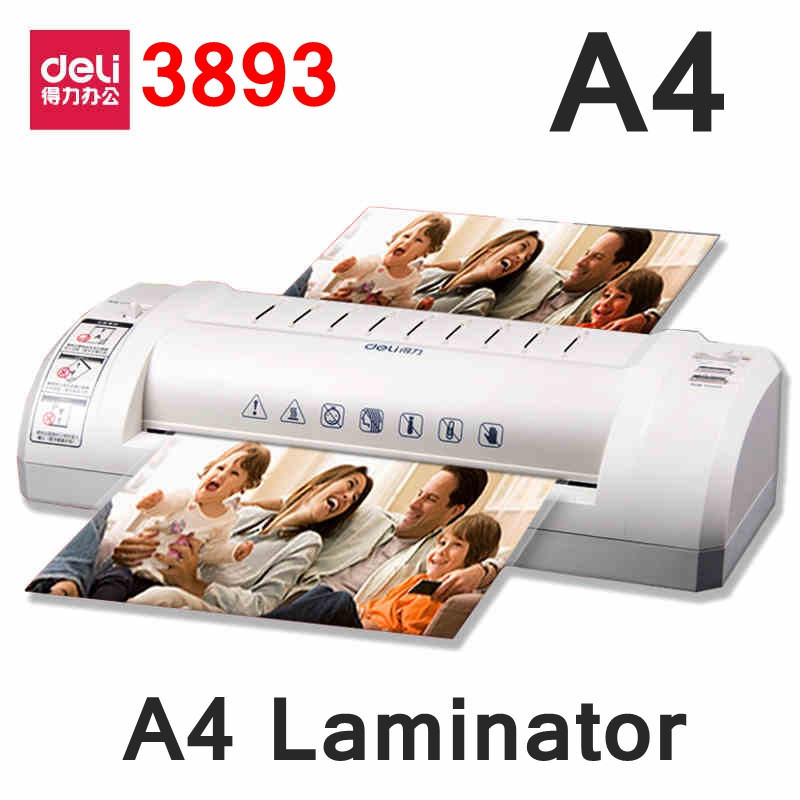 Ламинатор Deli 3893-EU А4, пленка 175мк, t° 0-150