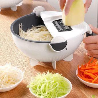 Многофункциональная терка овощерезка Portables Wet Basket Vegetable Cutter с контейнером для промывания овощей