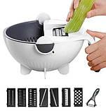 Многофункциональная терка овощерезка Portables Wet Basket Vegetable Cutter с контейнером для промывания овощей, фото 3