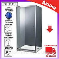 Душевая кабина квадратная 90х90 см дверь распашная Dusel А-516 стекло тонированное